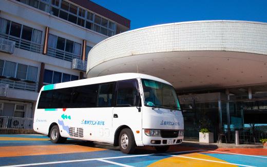 鳥羽駅から<br /> 無料送迎バスで当館へ